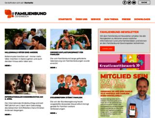familienbund.at screenshot
