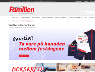 familienslillebutikk.no screenshot