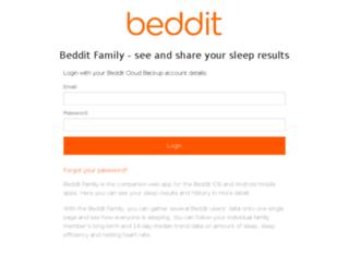 family.beddit.com screenshot