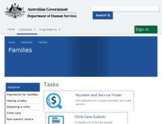 familyassist.gov.au screenshot