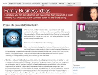 familybusinessideas.com screenshot