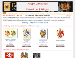 familycrestuk.com screenshot