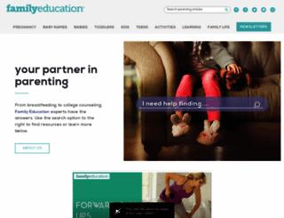 familyeducation.com screenshot