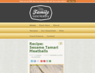 familygonehealthy.com screenshot