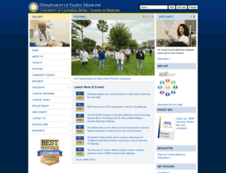 familymed.uci.edu screenshot