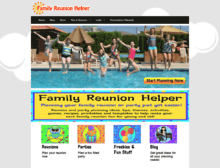 familyreunionhelper.com screenshot