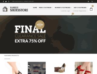 familyshoesstore.com screenshot