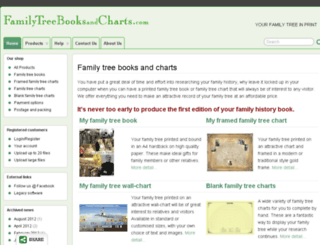 familytreebooksandcharts.com screenshot