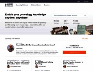 familytreewebinars.com screenshot
