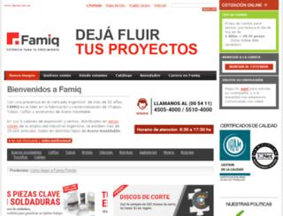 famiq.com.ar screenshot