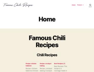 famouschilirecipes.com screenshot