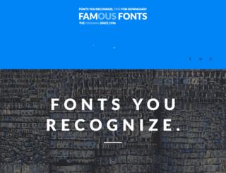 famousfonts.smackbomb.com screenshot