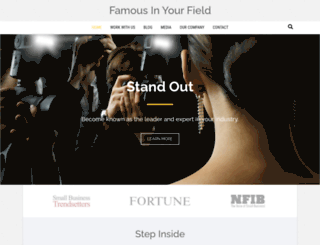famousinyourfield.com screenshot
