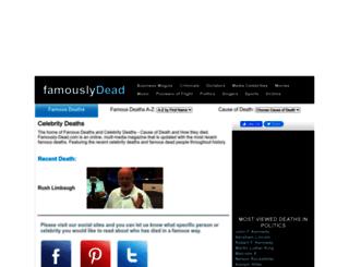 famously-dead.com screenshot