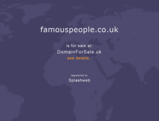famouspeople.co.uk screenshot