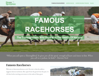 famousracehorses.co.uk screenshot