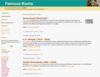 famousroots.com screenshot