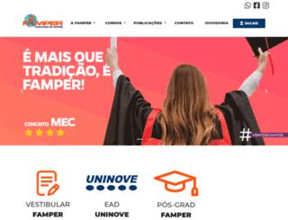 famper.com.br screenshot