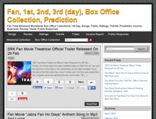 fan-boxofficecollections.com screenshot
