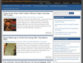 fan-boxofficecollections.in screenshot