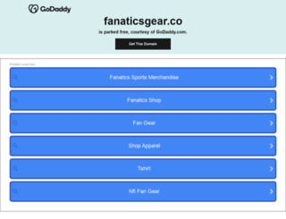 fanaticsgear.co screenshot