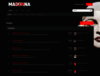 fancommunity.madonna.com screenshot