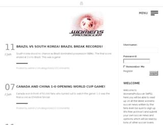 fancorner.womensprosoccer.com screenshot