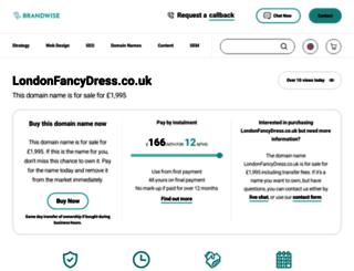 fancydresslondon.co.uk screenshot