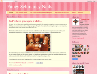 fancyschmancynails.blogspot.fr screenshot