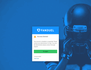 fanduel.onelogin.com screenshot