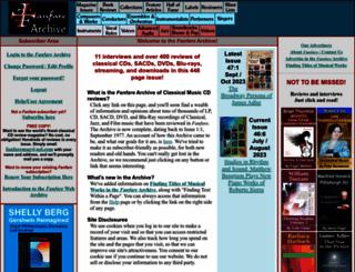 fanfarearchive.com screenshot