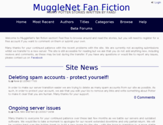 fanfiction.mugglenet.com screenshot