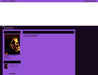 fannys.bloggplatsen.se screenshot