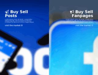 fanpagesmarket.com screenshot