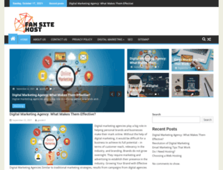 fansitehost.org screenshot