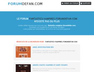 fantastics-vampires.forumdefan.com screenshot