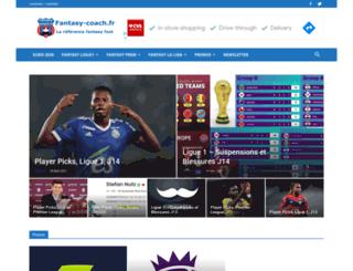 fantasy-coach.fr screenshot