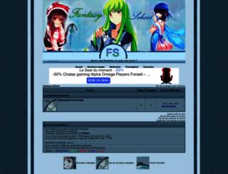 fantasy-school.foroactivo.com screenshot