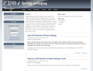 fantasy-writers.org screenshot