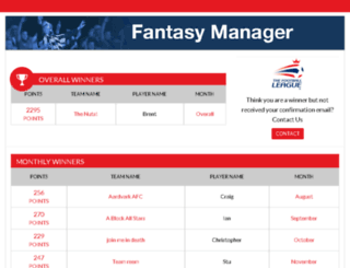 fantasy.football-league.co.uk screenshot