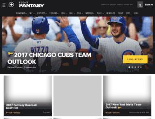 fantasy.scout.com screenshot