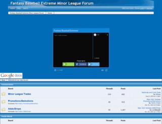fantasybasbalxtreme.freeforums.net screenshot