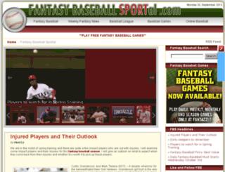 fantasybaseballsportal.com screenshot