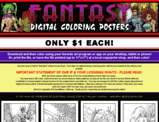 fantasycoloringposters.com screenshot