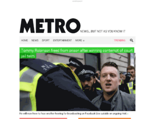 fantasyfootball.metro.co.uk screenshot