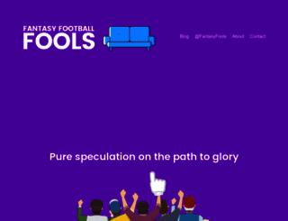 fantasyfootballfools.com screenshot