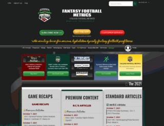 fantasyfootballmetrics.com screenshot