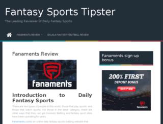 fantasysportstipster.com screenshot