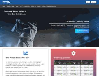 fantasyteamadvice.com screenshot