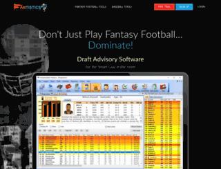 fantistics.com screenshot